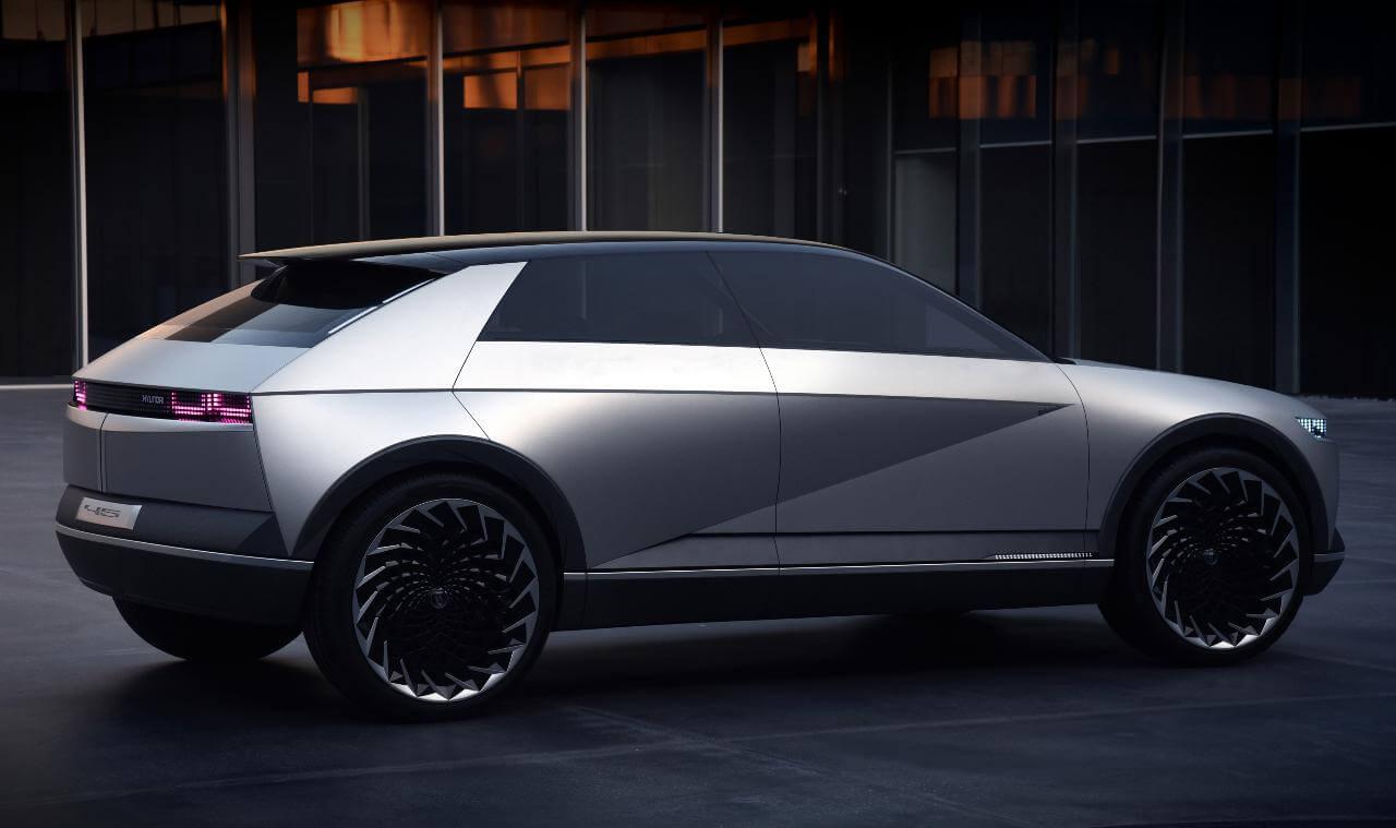 Exterior do 45, o Novo Concept Elétrico da Hyundai