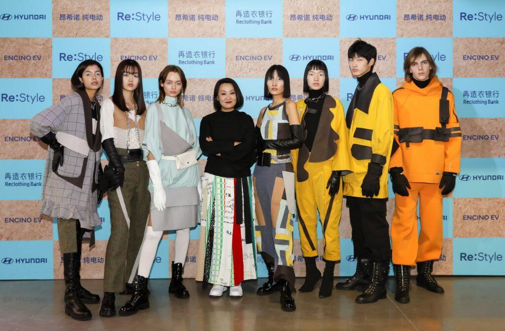 Modelos com a Coleção de Moda da Hyundai