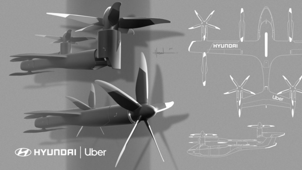 Projeto do taxi aéreo Hyundai