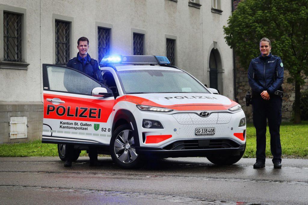 Frotas Policiais Europeias passam a integrar carros elétricos da Hyundai