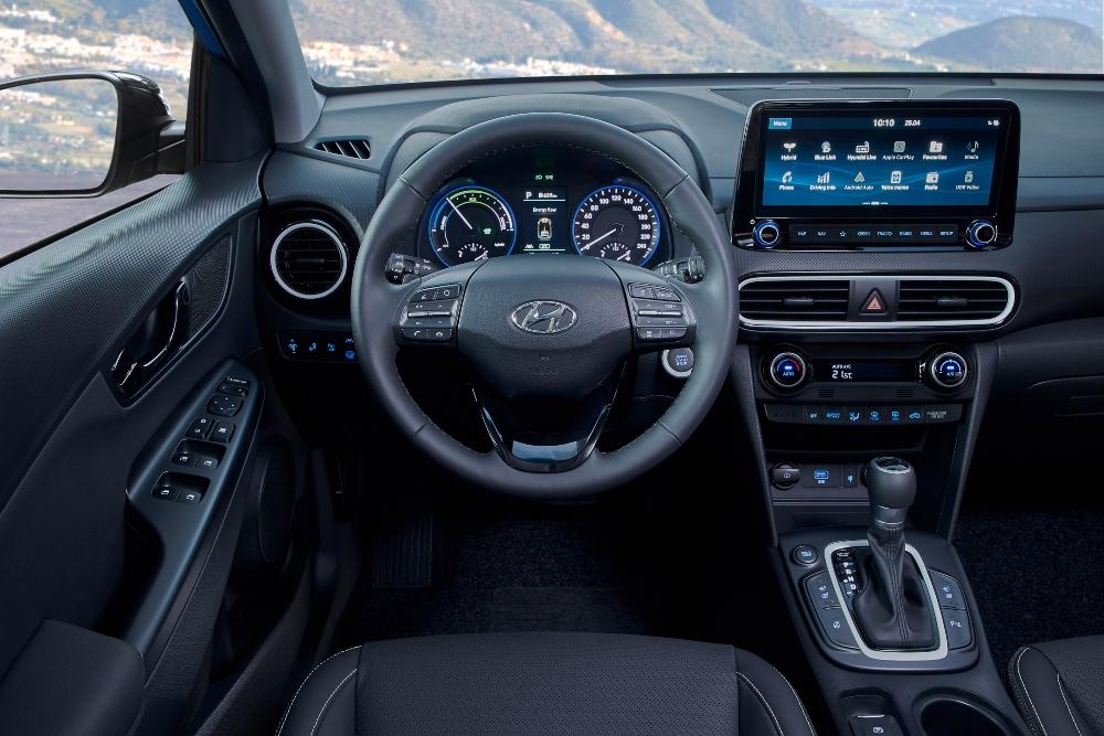 Interior do Hyundai Kauai Híbrido