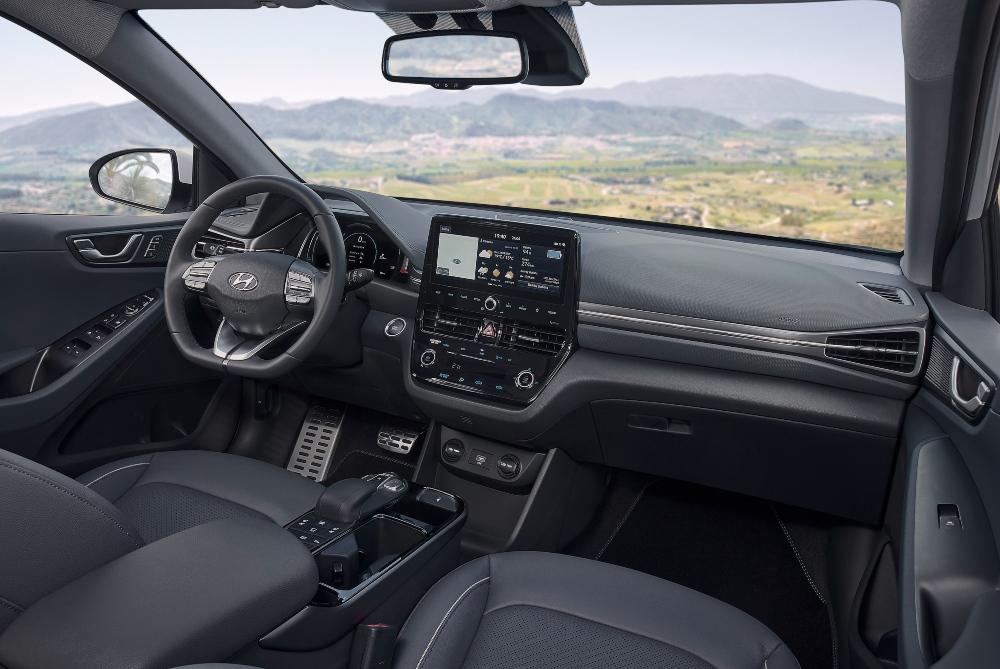 Interior de um veículo elétrico