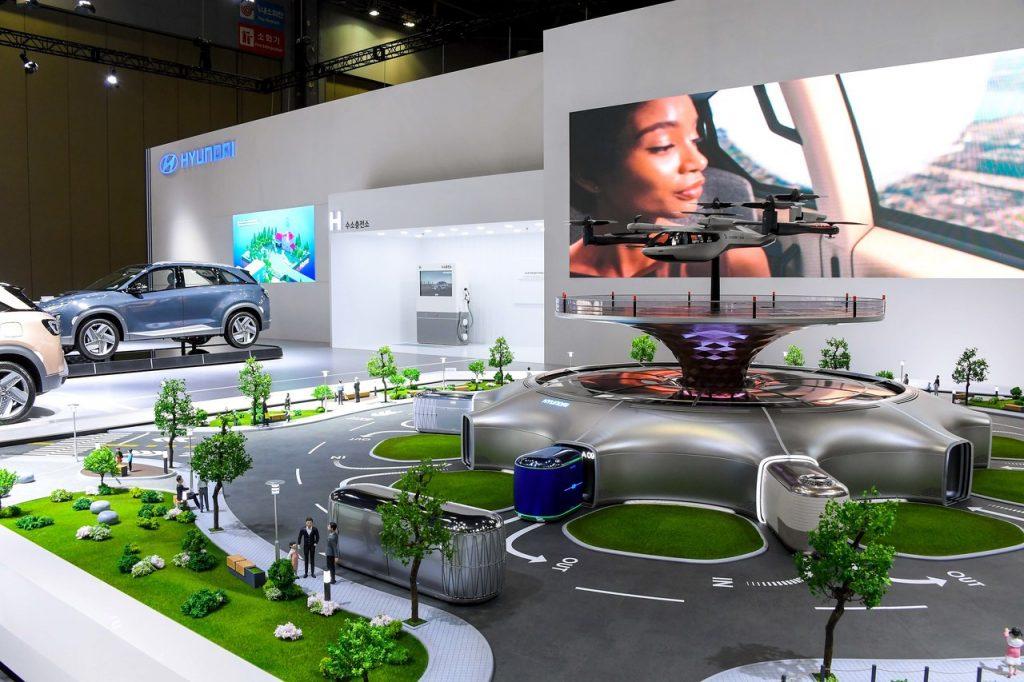 Ecossistema de Mobilidade Inteligente da Hyundai que inclui primeiro táxi aéreo