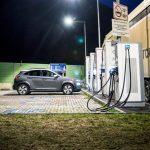 Posto de carregamento de carros elétricos
