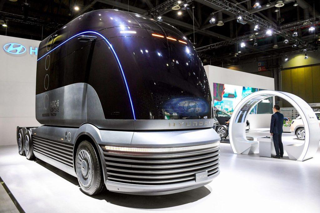 O futuro camião da Hyundai movido a hidrogénio