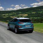 Traseira do carro elétrico Hyundai KAUAI