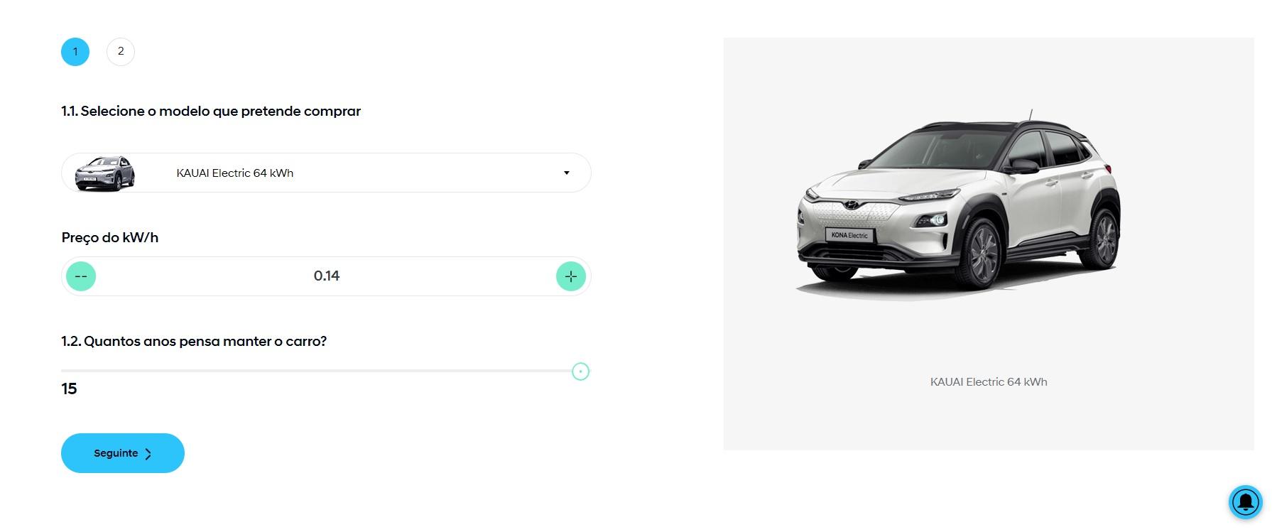 Simulador de poupança Hyundai