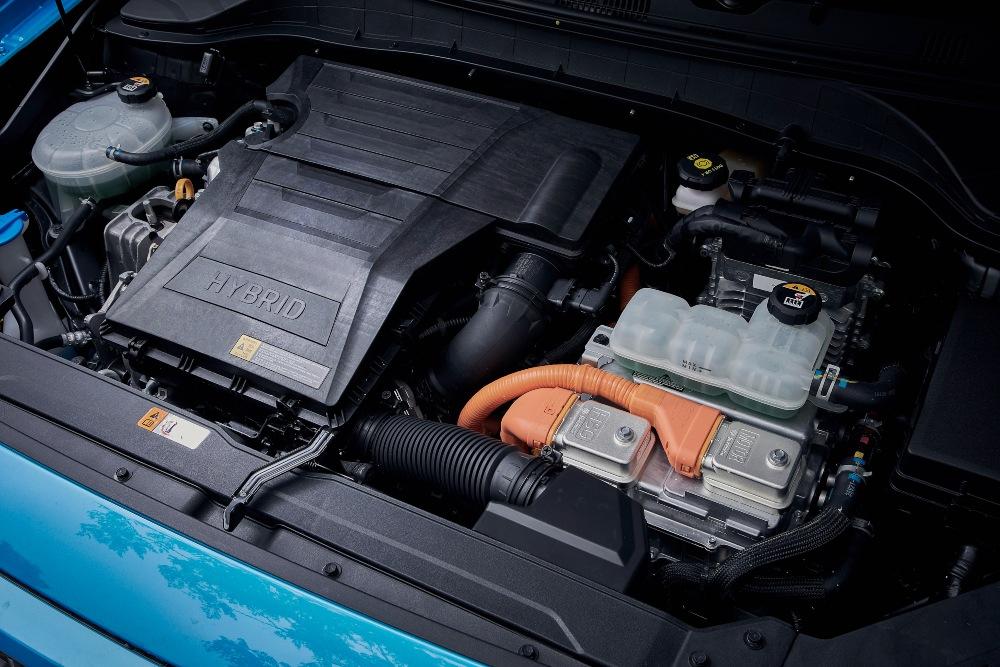 Motor híbrido de um carro Hyundai